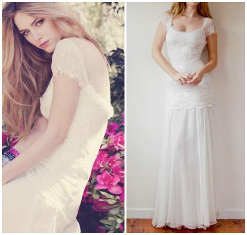 Фото романтичного свадебного платья в крестьянском стиле «Emme»