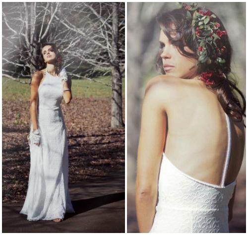 Фото романтичного свадебного платья в крестьянском стиле «Florence»