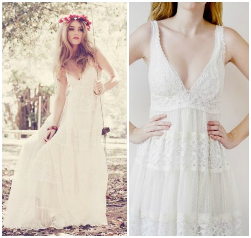 Фото романтичного свадебного платья в крестьянском стиле «Grace»