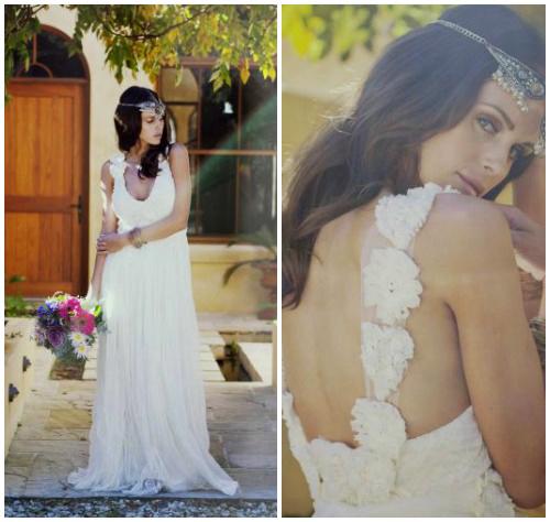 Фото романтичного свадебного платья в крестьянском стиле «Isla»