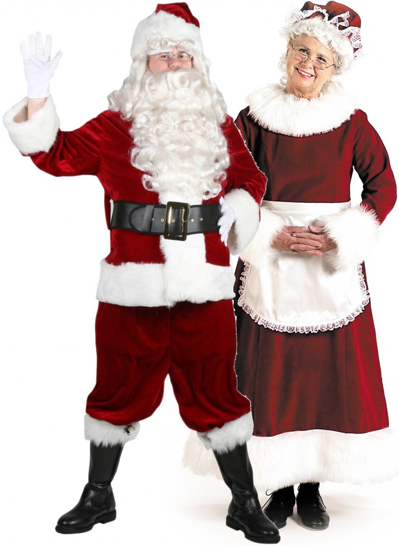 Санта Клаус и миссис Клаус - Рождественский костюм для пар