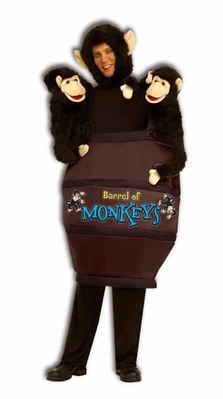 Смешной новогодний костюм мамы обезьяны с малышами
