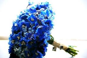 Синий букет для невесты