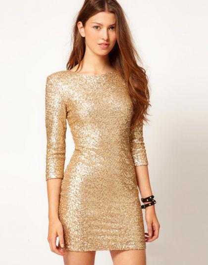 Платье паетки короткое